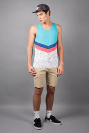 Brooklyn Cloth Turquoise Chevron Tank Top for Men