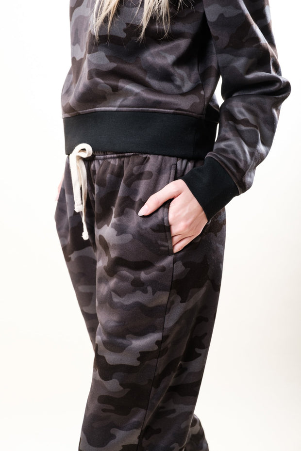 Women's Black Camo Sweat Jogger