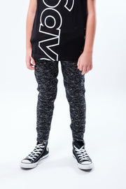 Black Printed Space Dye Jogger for boys