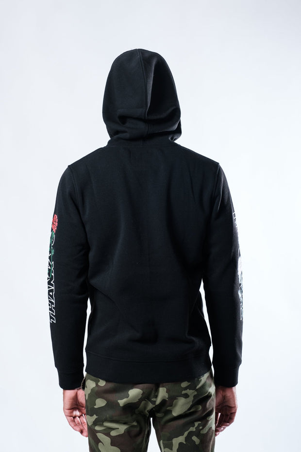 Black Thank You Rose Hoodie