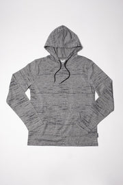 Black Marl Light Weight Jersey Knit Hoodie
