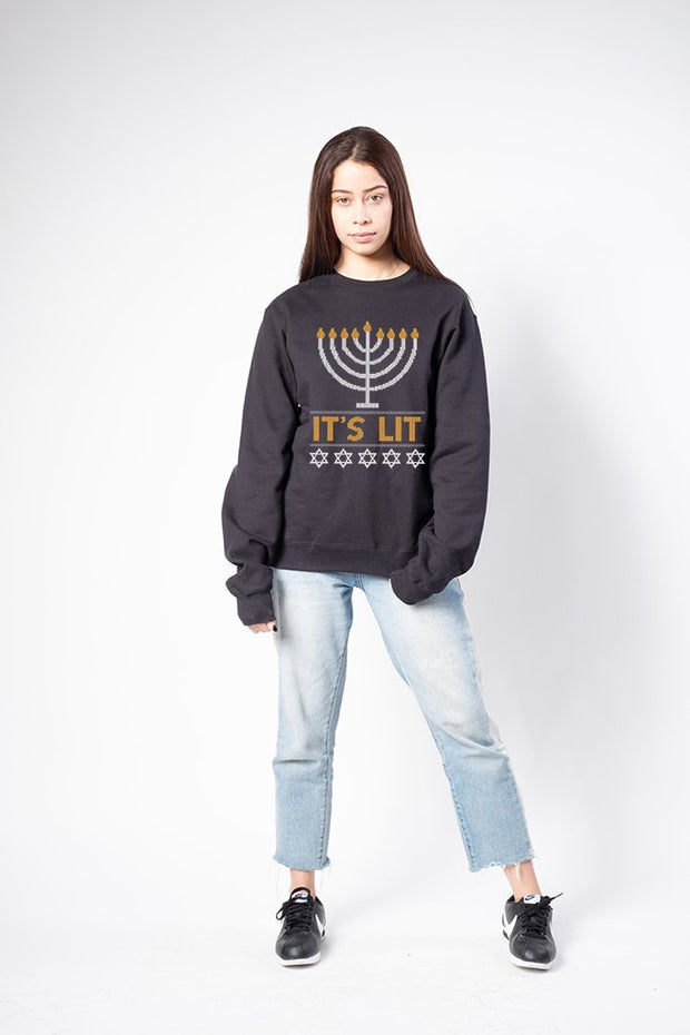Women's Black It's LIT Sweatshirt