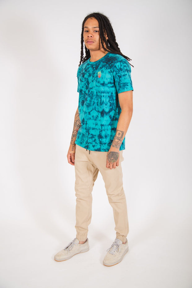 Teal Luxury True Tie Dye Tee