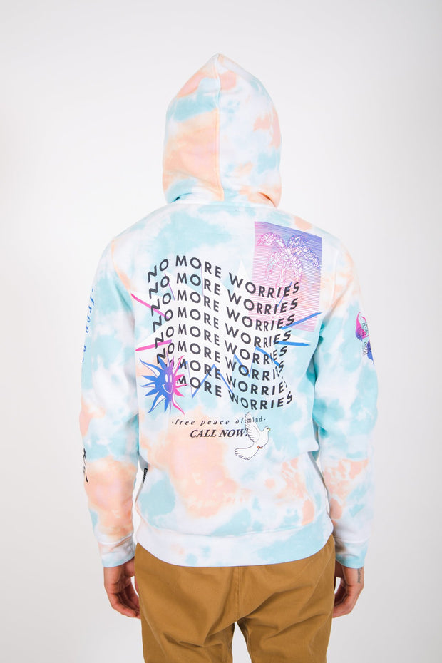 Tie Dye No More Worries Hoodie