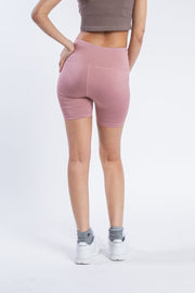 "Women's 5"" Inseam Dusty Rose Bike Shorts"