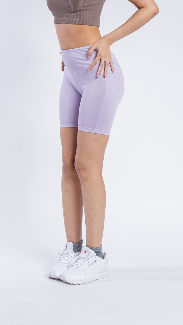 "Women's 5"" Inseam Lavender Bike Shorts"