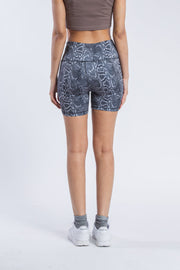 "Women's 5"" Inseam Snake Print Bike Shorts"