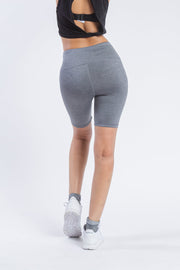 "Women's Grey 7"" Inseam Biker Short"