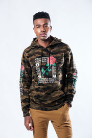 Camo Thank You Rose Hoodie