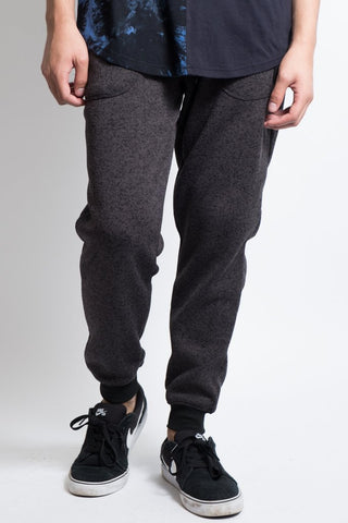 Charcoal Marl Cozy Knit Fleece Jogger