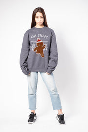 Women's Charcoal Grey Oh Snap Sweatshirt