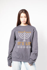 Women's Charcoal Grey It's LIT Sweatshirt