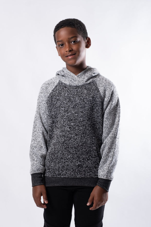 Boys Color Block Cozy Knit Hoodie