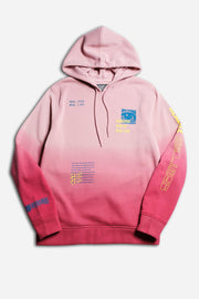 Dusty Rose Real Lies Ombre Hoodie