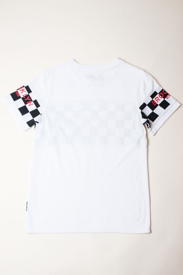 Brooklyn Cloth Boys White Retro Brooklyn Block Tee