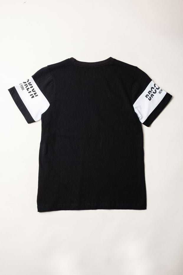 Brooklyn Cloth Boys Black Brooklyn Retro Tee