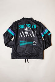 Brooklyn Cloth Boys Black Brooklyn Coaches Jacket