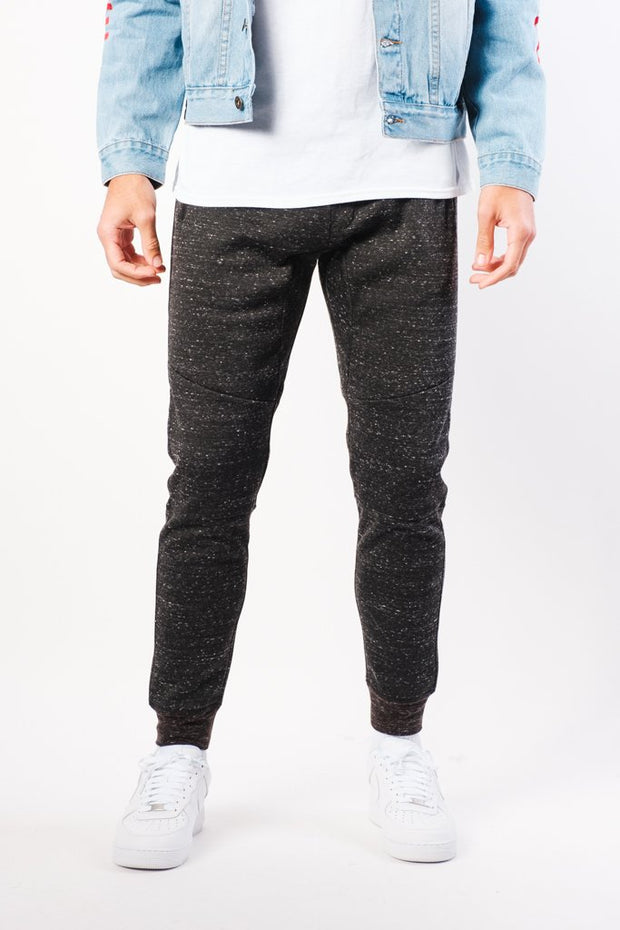 Black Snow Fleece Jogger Pants
