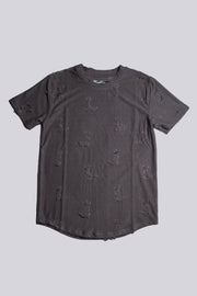 Boys Distressed Tee in Cedar