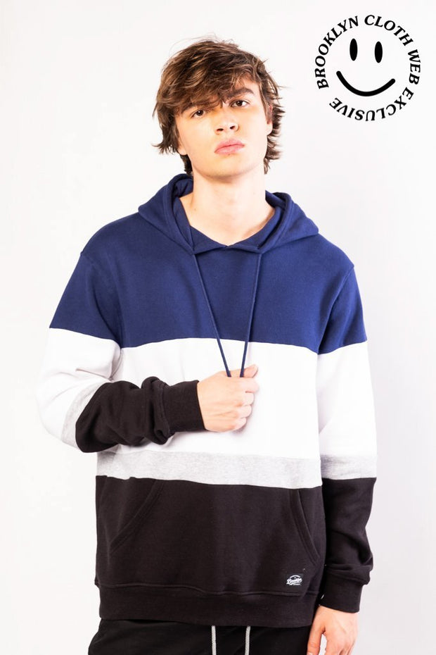 Original Garment Navy Color Blocked Hoodie