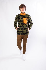 Original Garment Camo Sherpa Zip Up Jacket