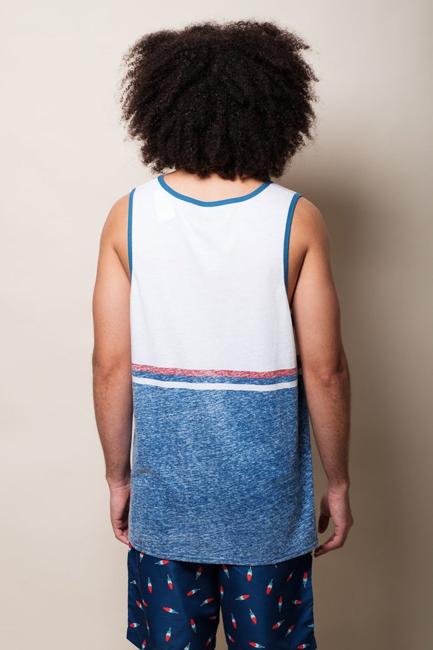Brooklyn Cloth USA Blocked Tank Top for Men