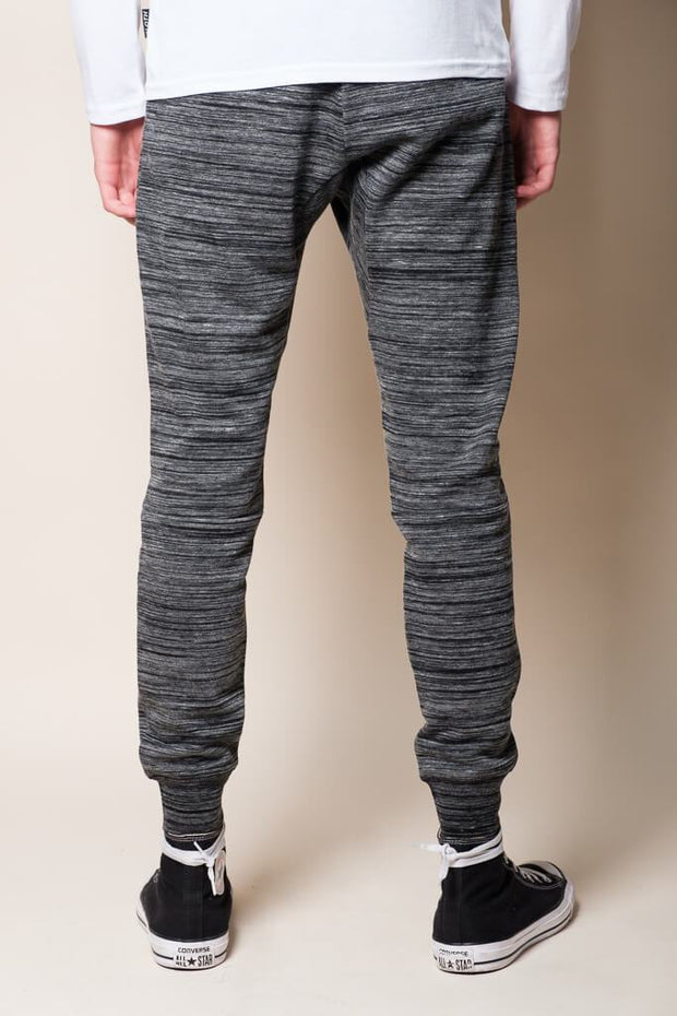 Brooklyn Cloth Black Knit Space Dye Jogger Pants for Men