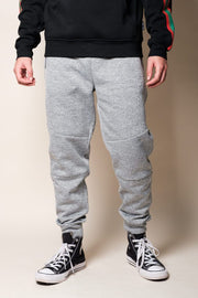 Men's Grey Polyester Jogger Pants