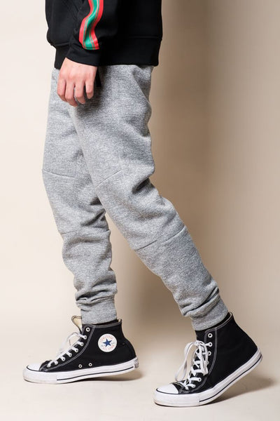 Grey Polyester Jogger Pants