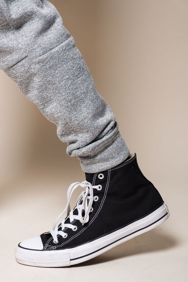 Brooklyn Cloth Grey Polyester Jogger Pants for Men