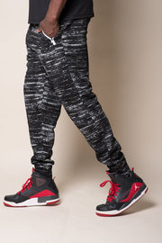 Black Streaky Intertech Jogger Pants