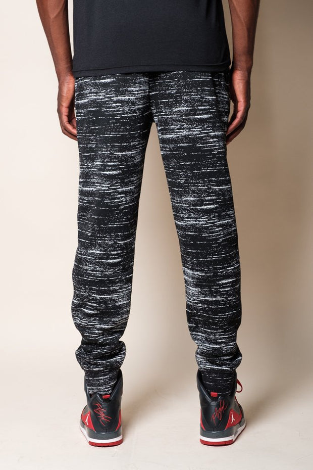 Men's Black Streaky Intertech Jogger Pants