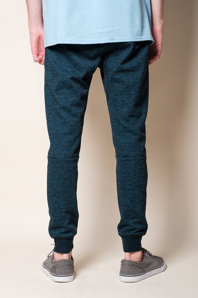 Teal Streaky French Terry Men's Jogger Pants from Brooklyn Cloth