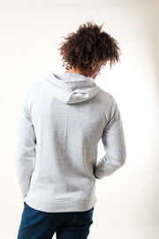 Back image of White Yarn Dye Stripe Cozy Hoodie