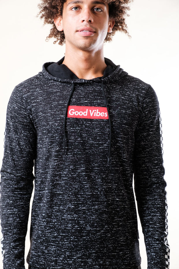 Good Vibes Taped Jersey Hoodie