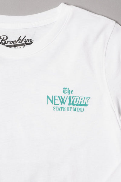 Boys' White NY State of Mind Long Sleeve Tee