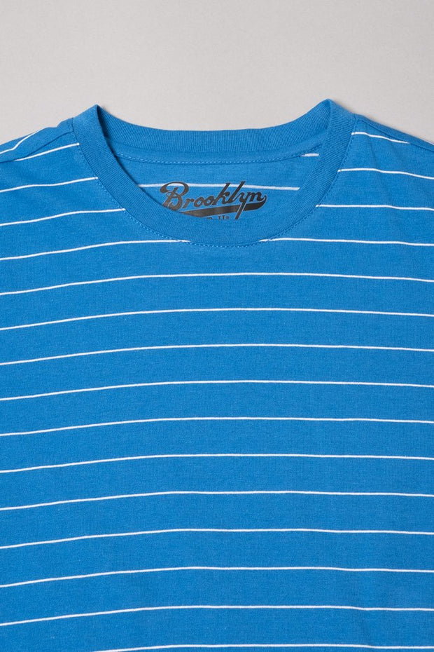 Boys Blue Single Striped Tee
