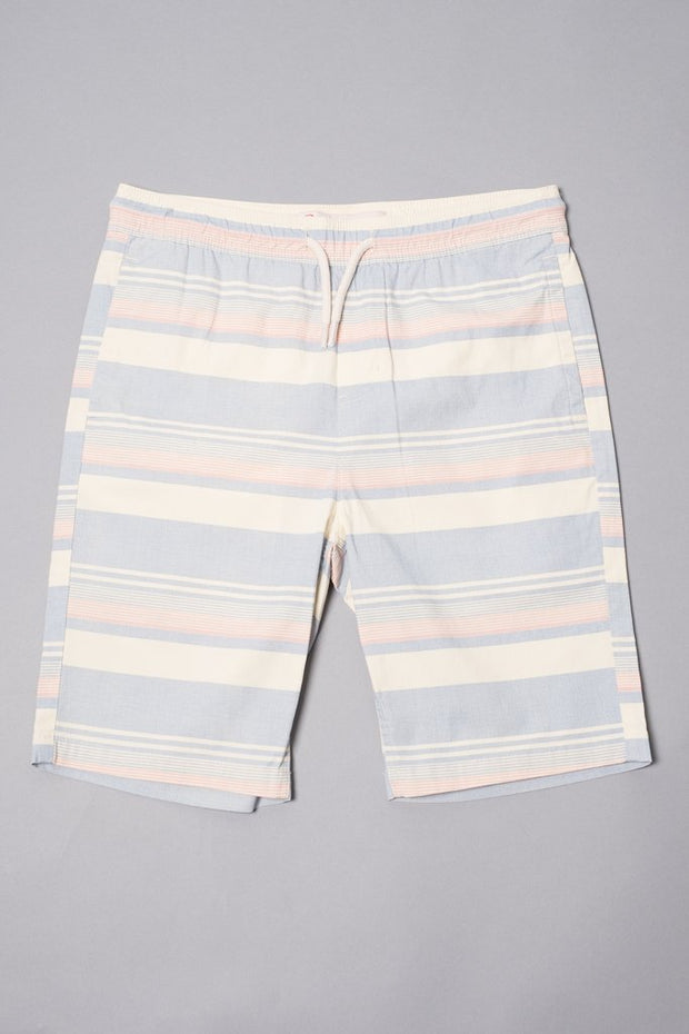 Boys Navy Striped Poplin Shorts