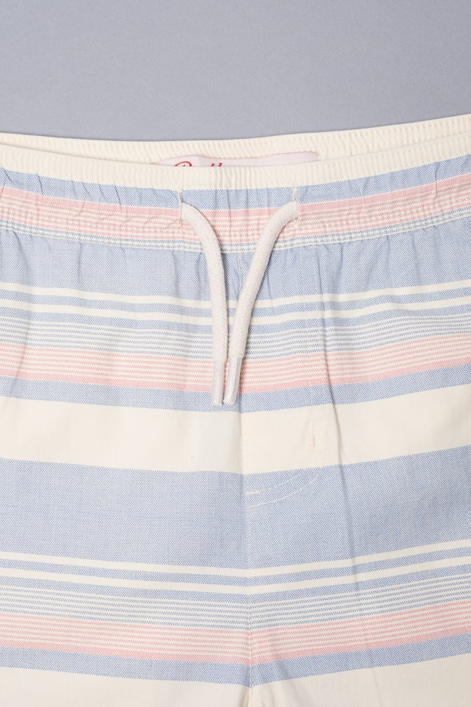 Boys' Navy Striped Poplin Shorts