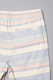 Boys Navy Striped Poplin Shorts at Brooklyn Cloth