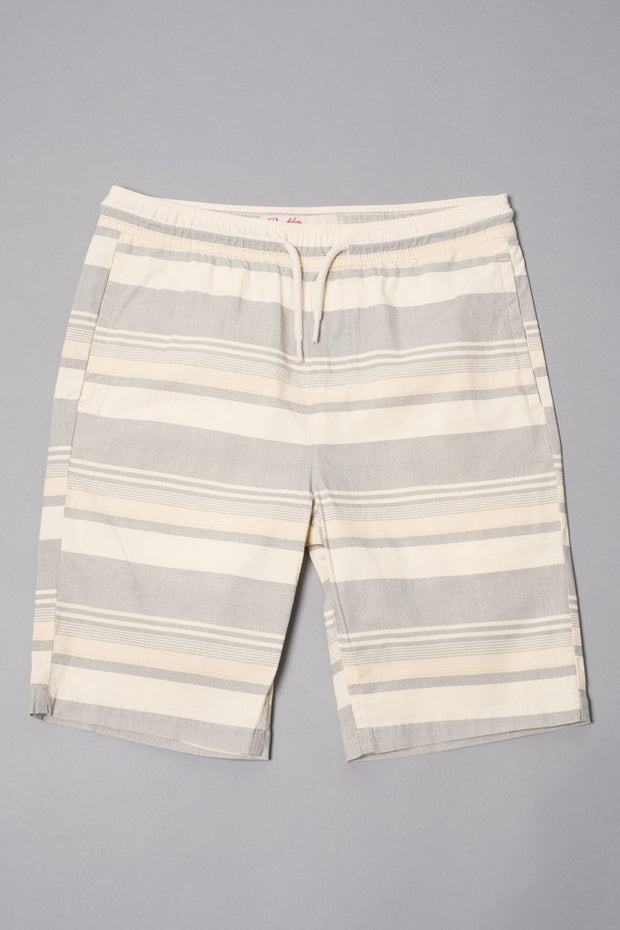 Boys Black Striped Poplin Shorts