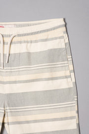 Boys Black Striped Twill Shorts