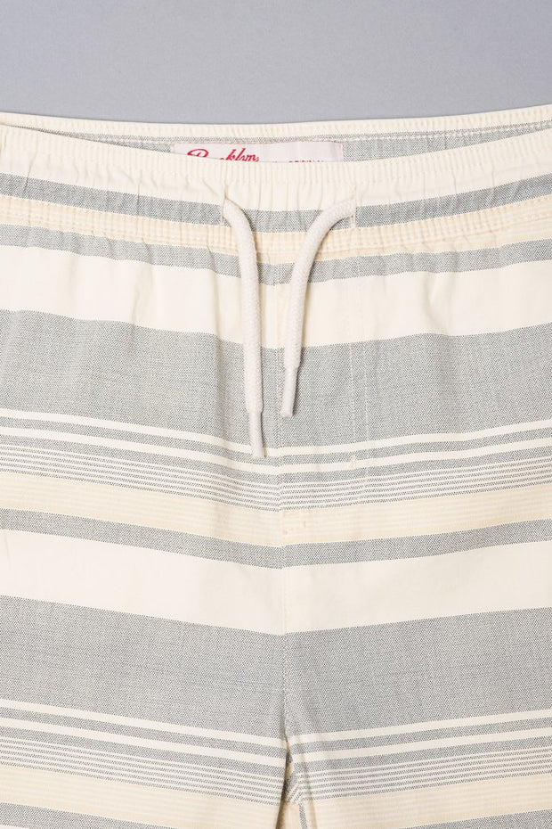 Boys' Black Striped Poplin Shorts