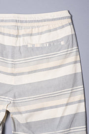 Boys Black Striped Poplin Shorts at Brooklyn Cloth