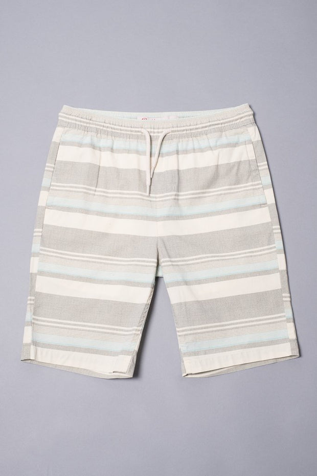 Boys Blue Striped Poplin Shorts