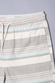 Boys Blue Striped Twill Shorts