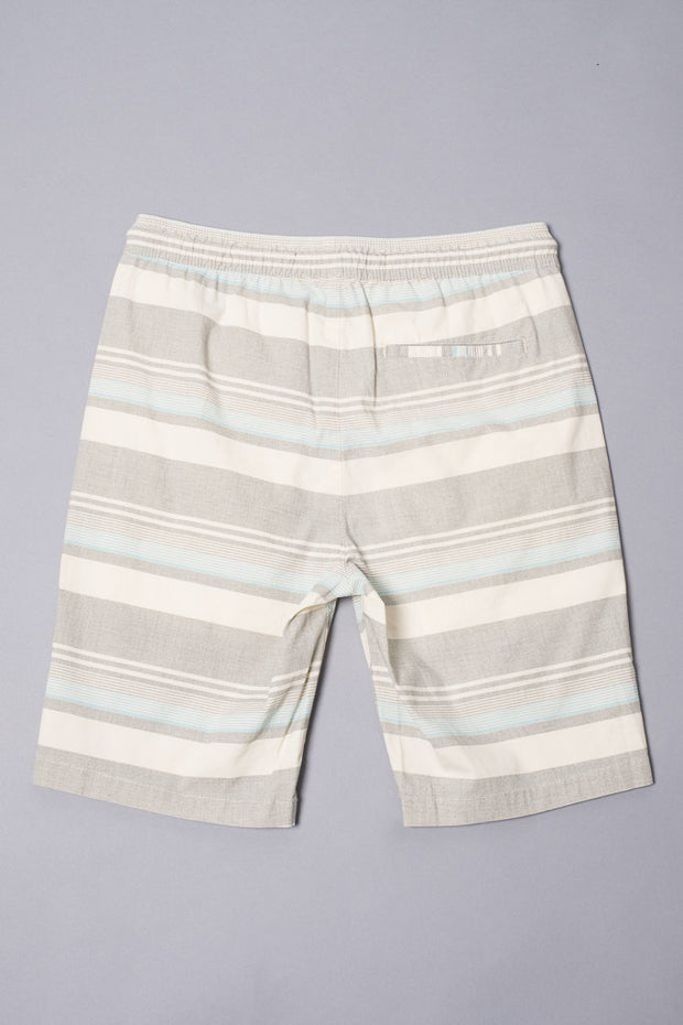 Boys Blue Striped Poplin Shorts at Brooklyn Cloth