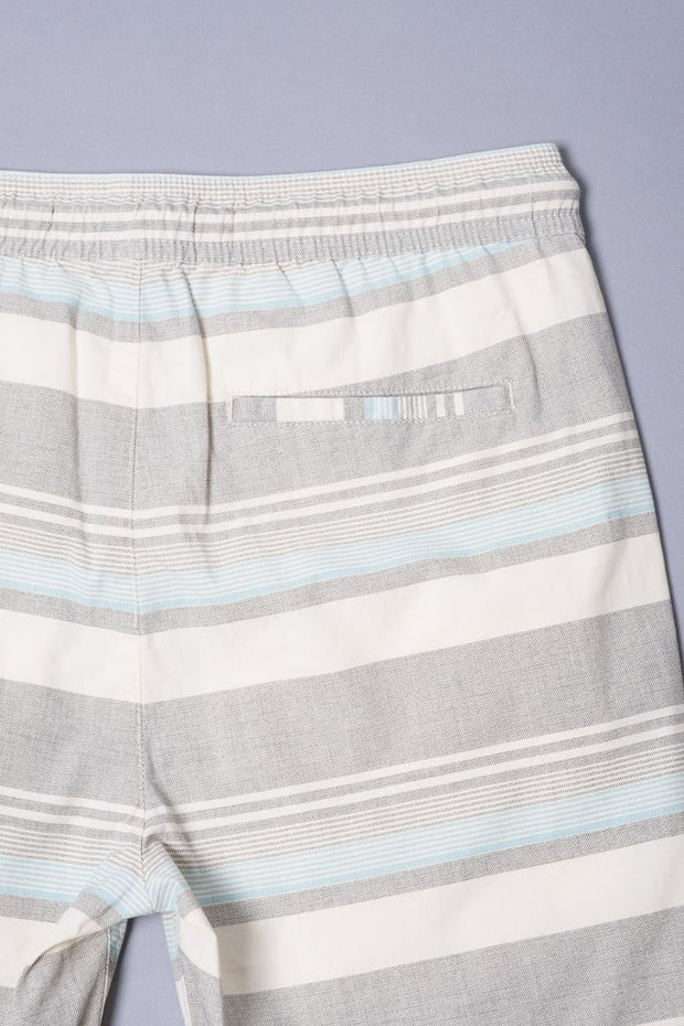 Boys Blue Striped Cotton Shorts