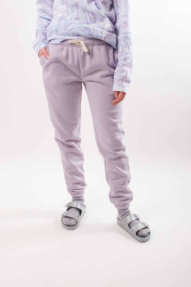 Lavender Pop Color Ladies Jogger