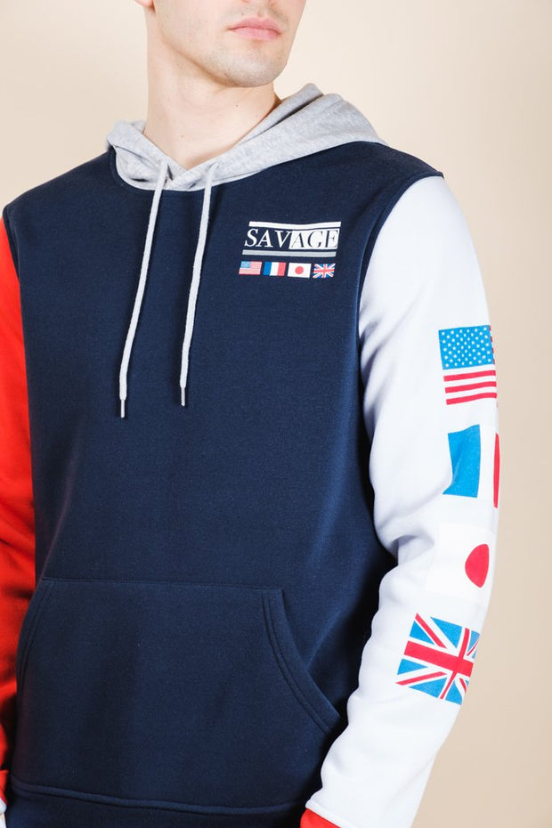 Savage Color Block Hoodie for Men